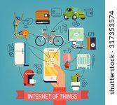 internet of things vector... | Shutterstock .eps vector #317353574