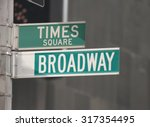 times square and broadway... | Shutterstock . vector #317354495
