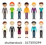 collection of different avatars ... | Shutterstock .eps vector #317355299