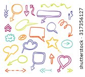 doodle arrows vector color set | Shutterstock .eps vector #317356127