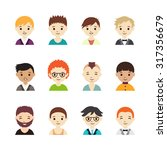 collection of different avatars ... | Shutterstock .eps vector #317356679