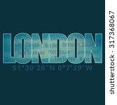 london graphic emblem on dark... | Shutterstock .eps vector #317368067