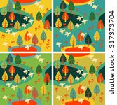 vector autumn background with... | Shutterstock .eps vector #317373704