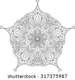 abstract vector black lace... | Shutterstock .eps vector #317375987