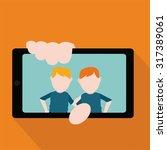 selfie kids illustration over... | Shutterstock .eps vector #317389061