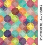 vector modern seamless colorful ... | Shutterstock .eps vector #317390861