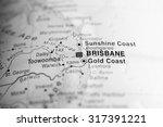 map view of brisbane  australia. | Shutterstock . vector #317391221