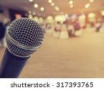 silver microphone in concert...   Shutterstock . vector #317393765