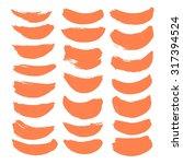 large set of vector brush... | Shutterstock .eps vector #317394524