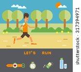 vector flat design on fitness... | Shutterstock .eps vector #317394971
