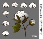 a set of cotton to create... | Shutterstock .eps vector #317396681