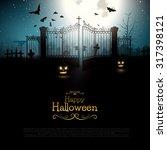 halloween background with...   Shutterstock .eps vector #317398121