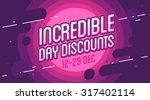 incredible sale banner. vector... | Shutterstock .eps vector #317402114