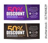 discount voucher template with... | Shutterstock .eps vector #317404829
