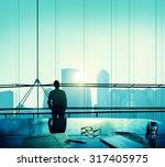 businessman thinking... | Shutterstock . vector #317405975