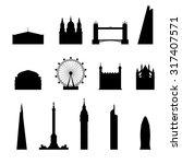 Icon London Set Silhouette...