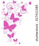 butterflies design | Shutterstock . vector #317411585