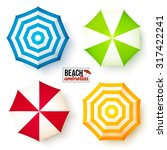 isolated summer beach umbrellas ... | Shutterstock .eps vector #317422241