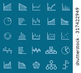 graph line color icons on blue...   Shutterstock .eps vector #317422949