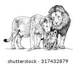 vector illustration. hand drawn ... | Shutterstock .eps vector #317432879