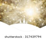 magical gold colored sky with... | Shutterstock . vector #317439794