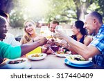 diverse people friends hanging...   Shutterstock . vector #317440409