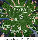 device digital electronic... | Shutterstock . vector #317441375