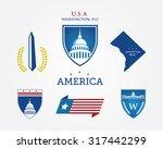 washington dc. america logo... | Shutterstock .eps vector #317442299