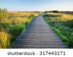 wooden walking path near morsum ... | Shutterstock . vector #317443271