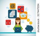 social media marketing design ... | Shutterstock .eps vector #317447054