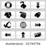 browser icon set glide | Shutterstock .eps vector #31744756