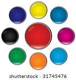 glossy buttons. vector | Shutterstock .eps vector #31745476