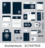 corporate identity template set.... | Shutterstock .eps vector #317457935
