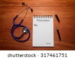 blank prescription of doctor... | Shutterstock . vector #317461751