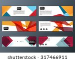 abstract colorful polygon... | Shutterstock .eps vector #317466911