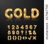 golden set of metallic shiny 3d ...   Shutterstock . vector #317467745