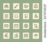 medicine web icons set | Shutterstock .eps vector #317473319