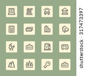 travel web icons set | Shutterstock .eps vector #317473397