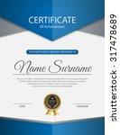 vector certificate template.   Shutterstock .eps vector #317478689
