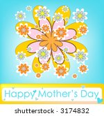 happy mother's day colorful...   Shutterstock . vector #3174832
