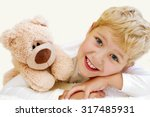 portrait of little boy with... | Shutterstock . vector #317485931
