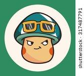 mushroom cartoon theme elements ... | Shutterstock .eps vector #317487791