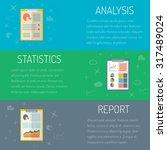 vector illustration  statistics ... | Shutterstock .eps vector #317489024