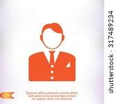 businessman icon | Shutterstock .eps vector #317489234