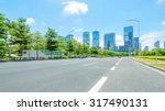 empty street with trees aside... | Shutterstock . vector #317490131
