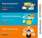 marketing   management | Shutterstock .eps vector #317490431