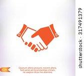 heandshake  icon | Shutterstock .eps vector #317491379