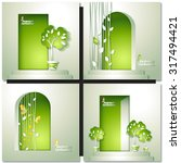 green nature invitation with...   Shutterstock .eps vector #317494421