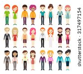 collection of different men and ... | Shutterstock .eps vector #317497154