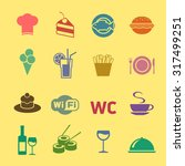 cafe and restaurant icons set.... | Shutterstock .eps vector #317499251